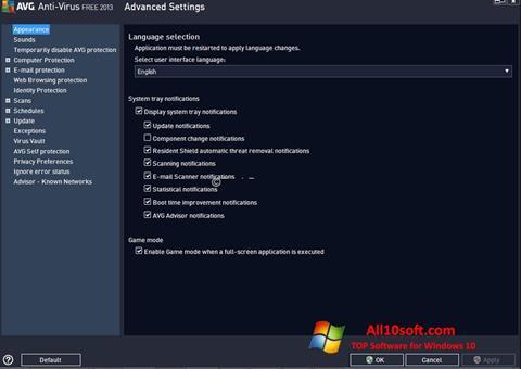 Screenshot AVG Windows 10
