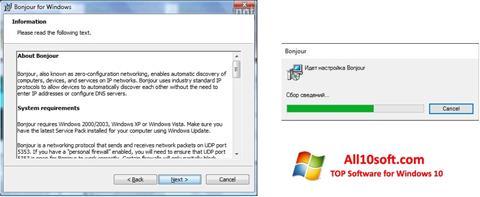 Screenshot Bonjour Windows 10