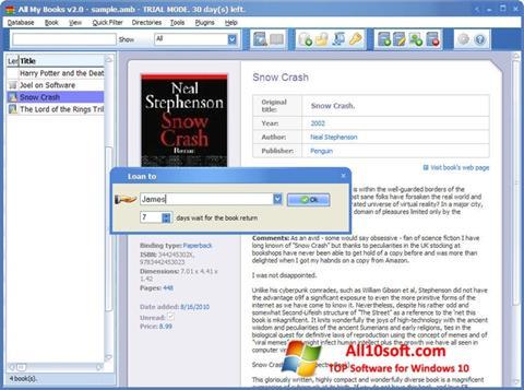 Screenshot All My Books Windows 10