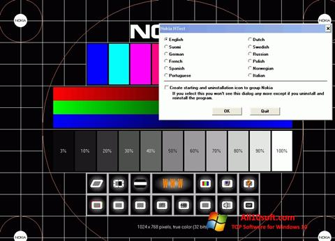 Screenshot Nokia Monitor Test Windows 10
