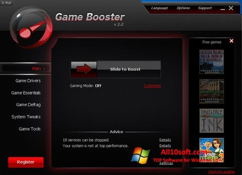 Screenshot Game Booster Windows 10