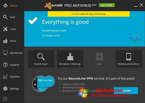 Screenshot Avast! Pro Antivirus Windows 10