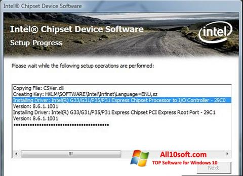 Screenshot Intel Chipset Device Software Windows 10