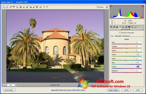 Screenshot Adobe Camera Raw Windows 10