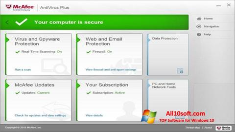 Screenshot McAfee AntiVirus Plus Windows 10